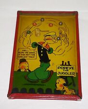 Popeye dexterity puzzle 1929 King Features Made in USA tin very good clean game