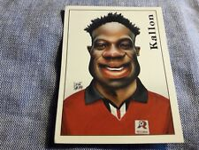 Figurina Calciatori Panini 2000 Nr°454 KALLON REGGINA Caricatura sticker NEW