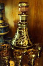 antico servizio da rosolio liquore cristallo argento 2