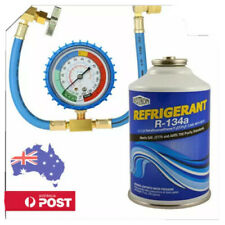 R134a CAR AIR COND REFILL 12 oz CAN+ HOSE+ GAUGE+ TAP COMBO KIT DEAL TRUCK.