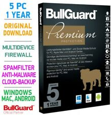 Bullguard PREMIUM PROTECTION 2018 Multidevice 5 PC 1 Jahr - TOP!