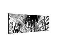 150x50cm Panoramabild Schwarz Weiss - City New York Broadway Times Square Stadt