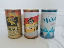 New listing Gambrinus 1-sided by August Wagner, Black Pride, Alpine by Alpine Tab Beer Cans