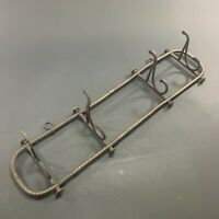EXQUISITE ANTIQUE c.1800's VICTORIAN ORNATE WALL MOUNTED SWIVEL HOOK COAT RACK