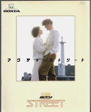 Honda Acty Street 1987 Japanese Market JDM Sales Brochure L 2WD 4WD