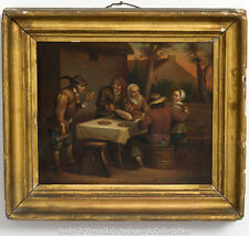 "Antique OIL PAINTING Style of Pieter BRUEGEL Dutch Original 7"" x 8"" c. 1800's"