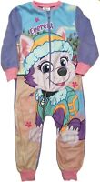 Paw Patrol Soft Fleece All In One Girls Sleepsuit Pyjamas Ages 1.5 to 5 Years