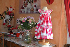 robe tartine et chocolat 4 ans carreaux rouge blanc petit noeud brelogue**