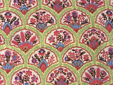 "Braemore Cotton Twill Fabric Asian Fan Upholstery Pillows 56"" X 2 Yards"