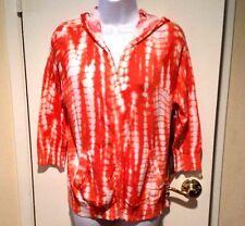 CHICO's Zenergy Talia Orange Tie Dye Zip Hoodie Jacket Cardigan Size 0 NWT