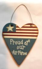 AIR FORCE FLAG WOODEN SIGN WALL DECOR PLAQUE HOME DECOR ORNAMENT - NEW