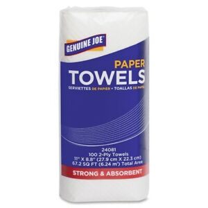 Genuine Joe 2-ply Household Roll Paper Towels - 2 Ply - 100 Sheets/roll - 24 /