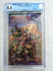 TMNT #18 CGC 8.5 - 3776261012 - OW/W Pages - Chang Lee App. - Wraparound cover