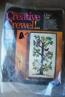 Vtg Columbia Minerva Erica Wilson Owls in a Tree opened Crewel Embroidery Kit
