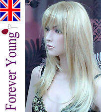 Ladies Long Blonde Wig Natural Looking Page Style Forever Young Fashion Wigs