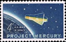 1962 4c Project Mercury, U.S. Man in Space Scott 1193 Mint F/VF NH