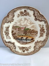 🌟 OLD BRITAIN CASTLES HADDON HALL 1792 BROWN COLORWAY SIDE PLATE JOHNSON BROS