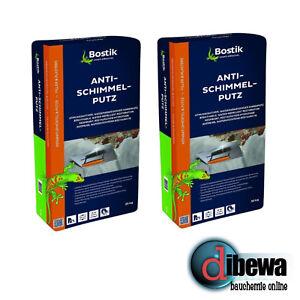 Bostik Anti-Schimmel-Putz, Sanierputz, Entfeuchtungsputz 2 x 25 kg Säcke