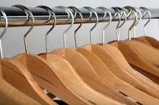 WOODEN HANGERS 12 PCS. (NATURAL COLOR )Hang PANT,SHIRT,DRESS Best Price@Ebay