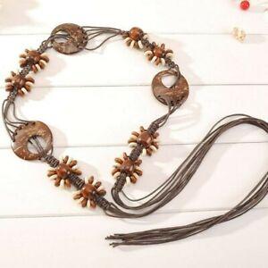 Women Lady Bohemian Belt Waist Band Tassel Handmade Vintage Dress Tie Rope