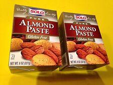 Solo Pure Almond Paste  2 Boxes of 8 oz (227gr) Gluten Free