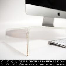 Tavolino supporto monitor pc_TV plexiglass trasparente 50x20 h:10  spessore10mm_