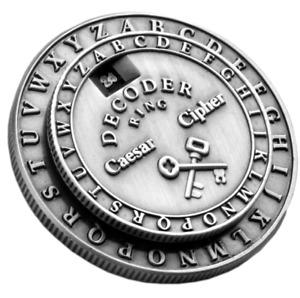 Secret Decoder Ring - Caesar Cipher Medallion (Little Orphan Annie Style)