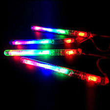 Long Plastic Flashing LED Light Up Glow Stick Colorful Concert Dance Party Toys