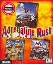 3 Classic Adrenaline PC Games: Tony Hawk Pro Skater 2 + Mat Hoffman's Pro BMX ++
