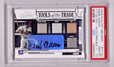 2005 Playoff Hank Aaron Tools of the Trade Quad Jersey Auto 1/1 PSA 10 Wow!