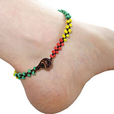 Rasta Ankle Bracelet Foot Anklet Chain Reggae Mens Womens Hippy Hippie Jewellery
