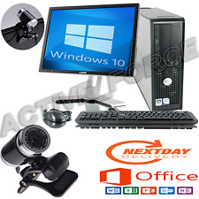 DELL DUAL CORE DESKTOP TOWER PC TFT COMPUTER WITH WINDOWS 10 WIFI 4GB 1T.B HDD