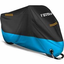 Favoto Housse de Protection Imperméable pour Moto Couverture Extérieur 210D a...