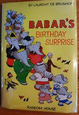 BABARS BIRTHDAY SURPRISE by LAURENT DE BRUNHOFF - 1970 1st Ed HC/DJ