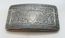 Webster Antique Sterling Silver Ornate Curved Hip Card Case