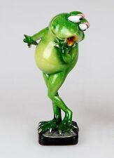 Frosch Dame Waage Kröte Lurch Deko Tier Figur Skulptur Froschkönig Laubfrosch