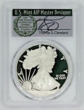 2019 $1 Proof Silver Eagle PR70 PCGS First Day Of Issue Thomas Cleveland Wreath