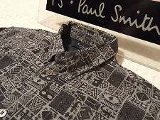 """PAUL SMITH Mens Shirt 🌍 Size S (CHEST 40"""") 🌎 RRP £95+ 📮 ABSTRACT EGYPTIAN"""