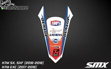 2016 KTM SX SXF rear fender sticker decal 2017 EXC graphics motocross emblem XCW