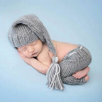 Newborn Baby Girls Boys Crochet Knit Costume-Photography Prop Outfits L4H6
