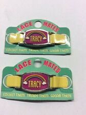 """2 LACE MATES """"TRACY"""" (Shoe Or Bracelet Charm) Party Favours FREE POSTAGE"""