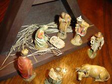 "Anri Wood- Carved Nativity Set-3"" Series Italy"