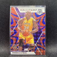 Shaquille O'Neal Blue Reactive Mosaic Prizm 2020 Panini Hall Of Fame #281 Lakers