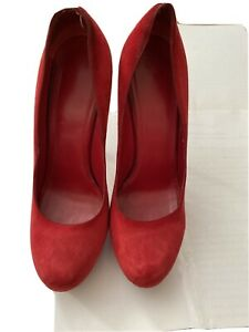 YSL RED SUEDE TRIBOTO SHOES