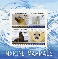 Antigua y Barbuda 2016 estampillada sin montar o nunca montada mamíferos marinos 4v m/s Sellos osos polares sellos