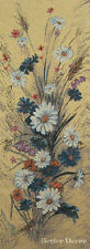 """34"""" WALL JACQUARD WOVEN TAPESTRY Field Flowers EUROPEAN DAISY PICTURE"""