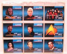 STAR TREK Inaugural 120+6 Card Set in 9-POCKET SHEETS
