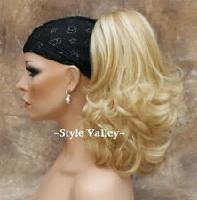 Blonde Mix Ponytail Hairpiece Curly Jaw Clip in on Blond Extension Hair Piece