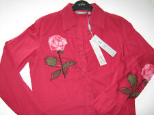MARKS & SPENCER PER UNA LADIES BLOUSE TOP SIZE 8 RRP£35 RASPBERRY RED BRAND NEW