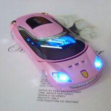 W8  cell phone pink Sports car model Unlocked Quad Band Dual SIM flip phone